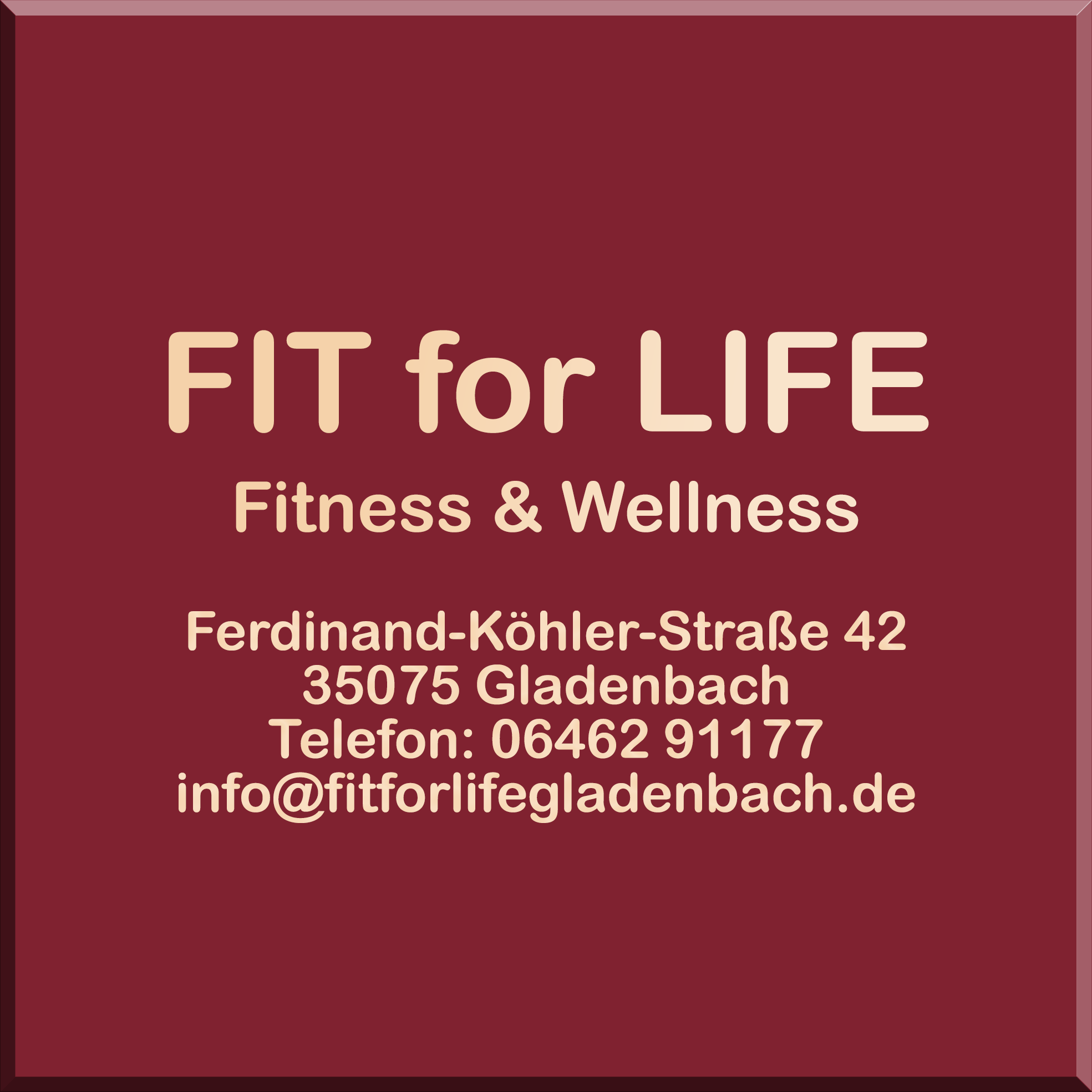 FIT for LIFE Logo mit Anschrift